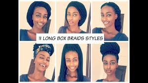 how to style long box braids 2016 11 unique styles youtube