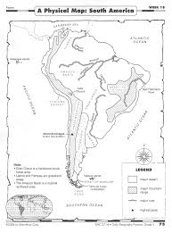 South America Physical Map Quiz by Monday 2015