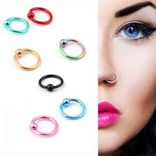piercing lip rings images 2 pieces fake nose ring fake lip ring clip hoop lip hoop lip jpg
