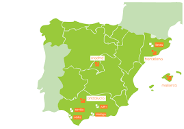 Andalucia Spain Map by About Olive Oil Tourism