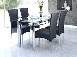 Rectangular Glass Top Dining Room Tables Modern Glass Dining Table U2013 Rhawker Design