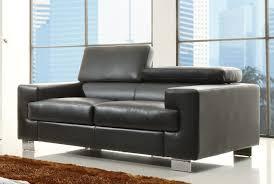 Bonded Leather Loveseat Homelegance Vernon Sofa Set Black Bonded Leather U9603blk 3