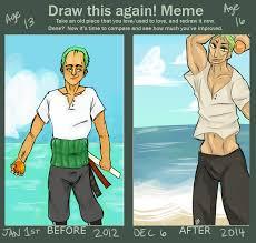 Mermaid Memes - draw this again meme zoro version by lesbian mermaid on deviantart