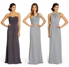 gray bridesmaid dress bridesmaids color palettes grey wedding aisle