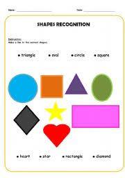 shape recognition worksheet shapes recognition worksheet