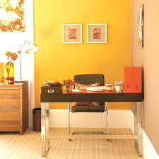 Office Design Ideas For Small Office I Love The Warm Colors In This Tiny Office Something To Think