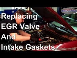 ford ranger egr valve problems how to replace an egr valve and intake gaskets on a ford freestyle