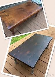 Stained Coffee Table Java Gel Stain Coffee Table Transformation General Finishes