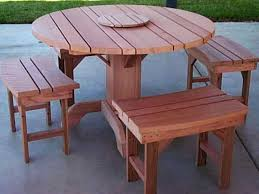 Redwood Dining Table Round Old Growth Redwood Dining Table Set With Pedestal Base