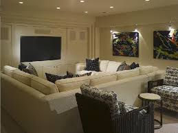 Sectional Sofa Throws Suzie Great Media Room In Basement Cream Sectional Sofa With