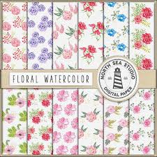 flowers coupon code digital watercolor paper watercolor flower papers colorful
