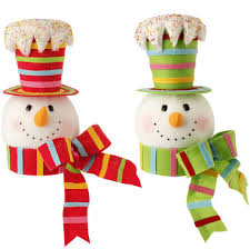 tree toppers snowman christmas tree topper candy colors cs shelley b