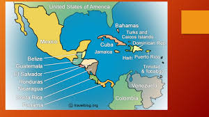 Central America And Caribbean Map by Central America And The Caribbean Bridging Two Continents Ppt
