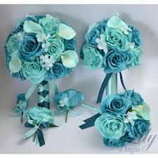 turquoise flowers of angeles beautifully handcrafted bridal bouquets more