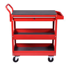 Tool Cabinet On Wheels by Metal Rolling Tool Cart Storage Chest Box Wheels Storage Trays W