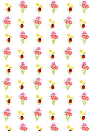 ladybug wrapping paper free digital floral scrapbooking paper with ladybugs