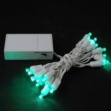 white wire battery operated string lights novelty