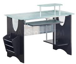 Wood And Glass Computer Desk Beautiful Tempered Glass Computer Desk Featuring White Stained