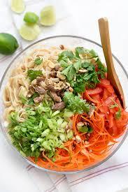 noodle salad recipes coconut noodle salad foodiecrush com