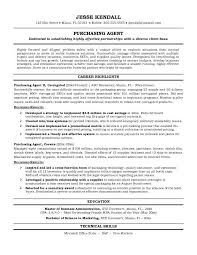 Sample Buyer Resume by Example Purchasing Agent Resume Free Sample Buyer Resume Sample