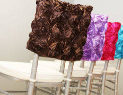 rosette chair covers chiavari chair caps hoods cv linens