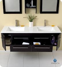 double sink bath vanity fresca fvn6119uns bellezza 59 espresso modern double sink bathroom