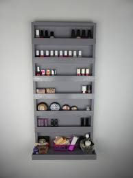wall makeup organizer black make up organizer nail polish rack