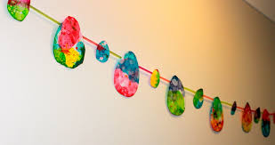 bubble painting easter garland toddler craft activity stay at