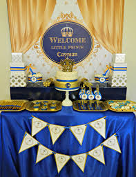 Themes Baby Shower Royal Blue And Gold Baby Shower Cake Plus