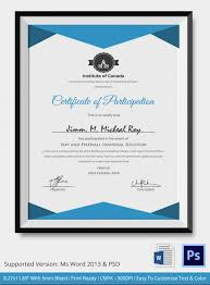 conference participation certificate template word certificate
