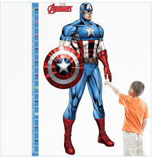 Captain America Decor 2016 New Avengers Captain America Height Stick Children U0027s Room