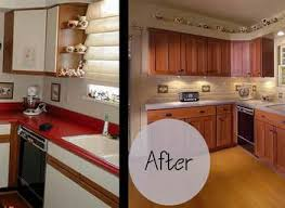 Refinished Kitchen Cabinets Before And After Kitchen Cabinets Yeo Lab Com