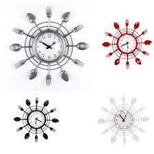 pendule de cuisine moderne pendule horloge de cuisine design moderne fourchette et couteau pas cher