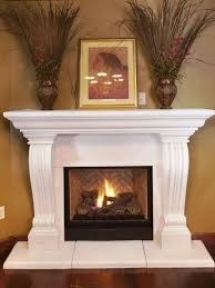 house design graceful fireplace idea with light brown stone wall