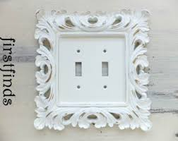 Shabby Chic Switch Plate by Light Switch Cover Plate Double Shabby Chic Distressed White