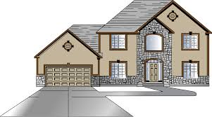 single story house clipart collection