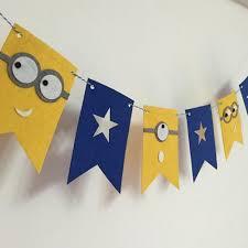 minions baby shower felt birthday flag minions banner kids baby shower bridal shower