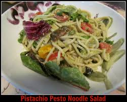 pistachio pesto brown rice noodle salad foodie loves fitness