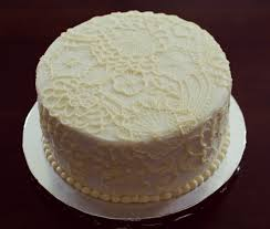 snacky french lace bridal shower cake