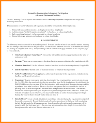 formal lab report template 10 chemistry lab report exle model resumed