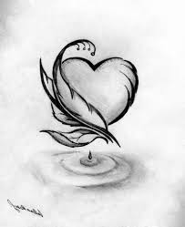 simple art drawing ideas rose drawings in pencil google search