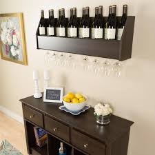 amazon com floating wine rack in espresso pre pac wine rack