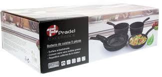 batterie de cuisine pradel batterie de cuisine 5 pièces alu forgé pradel excellence