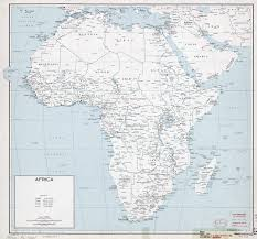 Map Of Africa With Countries by Large Political Map Of Africa With Cities U2013 1965 Vidiani Com