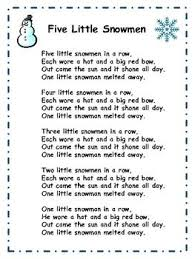 a free printable lyric sheet for the song five snowmen