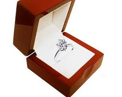 wedding rings in box engagement ring box etsy