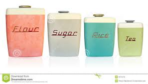 Large Kitchen Canisters Retro Kitchen Canisters Stock Photo Image 6674470
