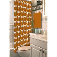 ncaa university of texas decorative bath collection shower