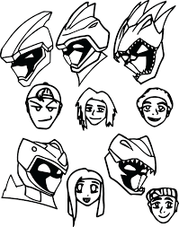 image power rangers coloring pages samurai colouring super