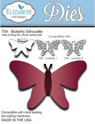 elizabeth craft designs dies butterfly silhouette